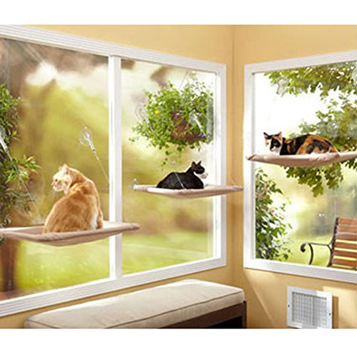 ZMG Cat Perch Window-mounted Cat Bed Cat Sunny Seat Pet Bed Hammock
