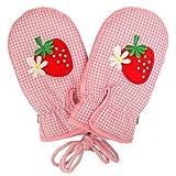 ベビーミトン 手袋 赤ちゃん ベビー 女の子 イチゴ ミトン手袋 防寒 てぶくろ ピンク TSS(1-2才)