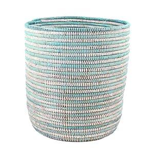 African Bath Bin Basket - Aqua - Fair Trade