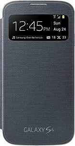 Samsung S-View Window Flip Premium Case Cover for Samsung Galaxy S4 - Black