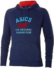 Asics Veste à capuche à motifs Homme Bleu indigo chiné L (Taille Fabricant: L)
