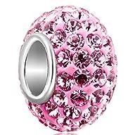 925 Sterling Silver Pink Birthstone C…