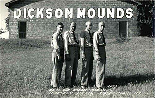 Ed, Don, Ernest, Marlon - Dickson'S Mounds Park City, Il Original Vintage Postcard