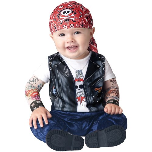 Baby Boys' Born To Be Wild Biker Costume Small (6 - 12 Months) front-674699
