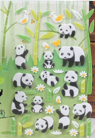 Panda Animal Adhesive Removable Decal Mural Stickers Book Sticker