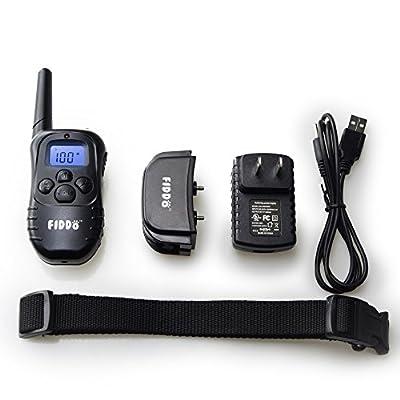 Fiddo Electric Dog Collar 330 Yards Remote Dog Training E-collar with Beep/Vibration/Shock Electric