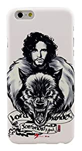 Parallel Universe Glow in the Dark Jon Snow backcover for Apple iPhone 6