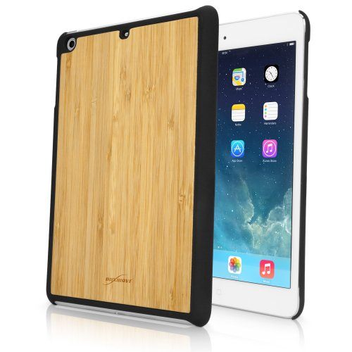 BoxWave True Bamboo Minimus iPad mini with Retina display Case, Genuine Bamboo Wood Backing Shell Case Cover with Durable Plastic Edges with Smooth Matte Finish (Winter White)