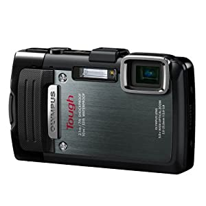 Olympus Stylus TG-830 iHS Digital Camera with 5x Optical Zoom and 3-Inch LCD (Black) (Old Model)