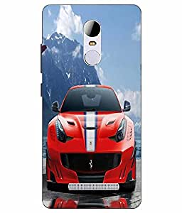 Case Cover Car Printed Red Hard Back Cover For RedMI Note 3