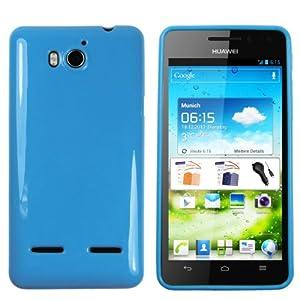 mumbi TPU Schutzhülle Huawei Ascend G615 G600 Hülle blau