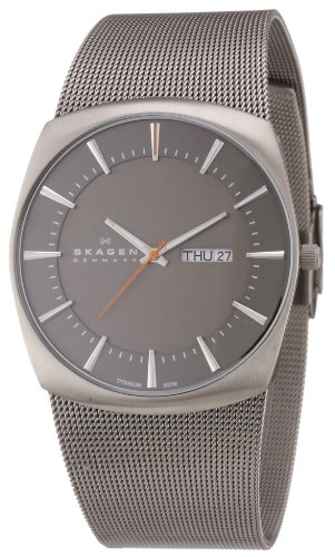 Skagen Mens Watch 696XLTTM with Silver Stainless Steel Bracelet and Grey Dial