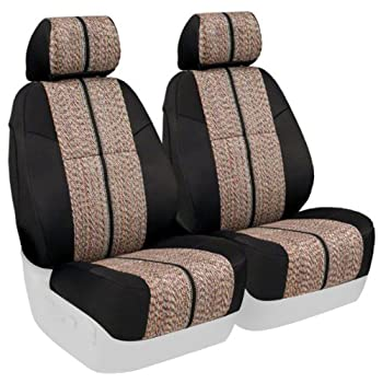 CSC2A5NS9762 Coverking Custom Fit Front 50//50 Manual Bucket Seat Cover for Select Nissan Frontier Models Tan with Black Sides Neosupreme