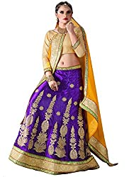 Khushi Trendz Women's Net Semi-Stitched Lehenga Choli Set_KT9193_Multicolored_Freesize
