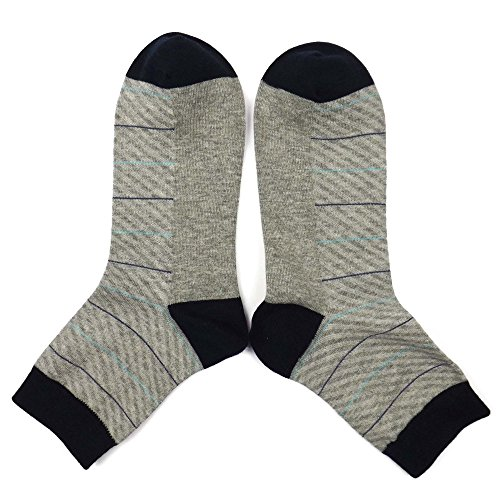 Silkworld Men'S 6 Pack Cotton Business Dress Ankle Socks Gray Black
