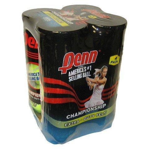 Penn Championship Extra Duty Tennis Balls 4 Can Pack TRG