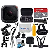 GoPro HERO5 Session 10MP – Waterproof to 33', Wi-Fi & Bluetooth + SanDisk 32GB + Head & Chest Strap + Flexible Tripod + Extendable Monopod + Medium Case + Bike Mount + Floating Handle + Accessories