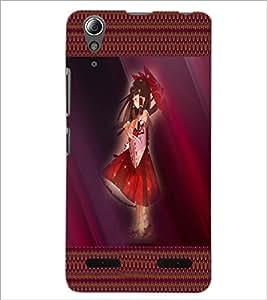 PrintDhaba Umbrella Girl D-4073 Back Case Cover for LENOVO A6000 (Multi-Coloured)