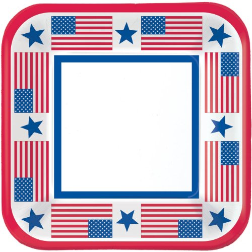 Patriotic Party Dinner Plates (40ct)