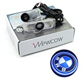 iNewcow Car Door Light Vehicle LED Welcome Logo Shadow Ghost Projector Light For BMW With Gift Card (BMW Logo)