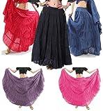 【ベリーダンス・サルサ・社交ダンス・フラメンコ・フラダンス】10ヤード・ジプシースカート(全5色)