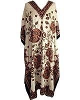 New Ladies Plus Size Maxi Tribal Ethnic Print Tunic / Kaftan Evening Party Size 18 20 22 24 26