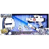 SPACE WARS SERIES: PLANET OF TOYS SPACE WEAPON SET 1 GUN 27CMS, EXPANDABLE SWORD 61CMS (LED LIGHT AND SOUND),MASK...