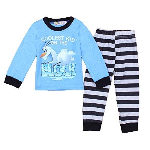 New Fashion Olaf Long Sleeve Pajama Set For Boys (# 6Years, Blue)