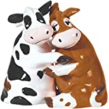 Westland Giftware Mwah! Ceramic Salt and Pepper Shaker, 3.5-Inch, Hugging Cows