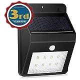 [New Version] Solar Light, Bengoo Solar Powerd Wireless Bright 8 LED Security Weatherproof Motion Sensor Light