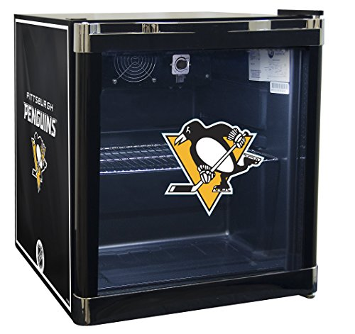 NHL Pittsburgh Penguins Refrigerated Beverage Cooler, 1.8 cu. ft., Black Graphic (Refrigerated Ice Chest compare prices)