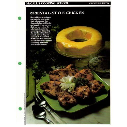 McCall's Cooking School Recipe Card (Chicken, Poultry 34 - Chicken Orientale) (Replacement Recipage / Recipe Card For 3-Ring Binders) Marianne Langan and Lucy Wing