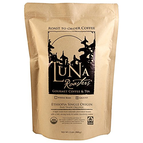 Luna Roasters Ethiopia Fair Trade Organic, Ground, 100% Artisan Roast Coffee (2 lb.) mesfin mulu ayalew determinants of women unemployment in ethiopia