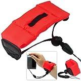First2savvv new red Bobber Floating floaty grib Handheld digital camera SLR hand strap grip for OLYMPUS FE-5030 FE-5035 FE-5040 FE-5050 T-100 TG-820 TG-630 VG-180 VH-410 VH-210