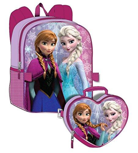 Disney Frozen Girl's Backpack with Detachable Lunchbox Set (Exclusive Design)