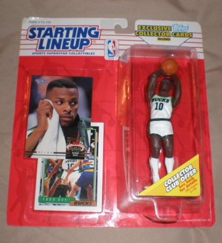 Starting Lineup NBA Basketball Todd Day Milwaukee Bucks 1993 Action Figure