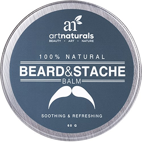 Art Naturals Beard & Mustache Balm / Oil / Wax / Leave In Conditioner 2.0 oz - 100% Natural Conditioning that Soothes Itching - Thickens, Strengthens, Softens, Tames & Styles Facial Hair Growth. (Natural Balm compare prices)