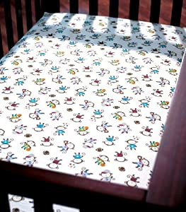 Summer Infant Crib Sheet, Team Monkey (Discontinued by Manufacturer)