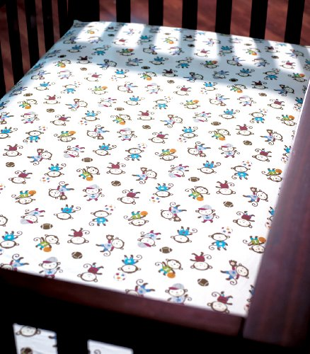 Summer Infant Crib Sheet, Team Monkey (Discontinued by Manufacturer) - 1