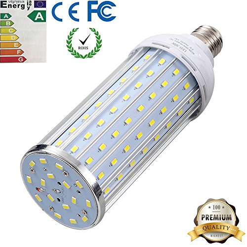 LED Corn Light Bulb, iThird 30W E27 200 Watt Incandescent Bulb Equivalent Indoor/Outdoor Super Bright Lamp Daylight for Garage Porch Street Garden Lighting (Led Light Corn compare prices)