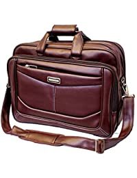 "Stylish 15.5"" Expandable Smart Messenger Laptop Sleeve Sling Office Bag"