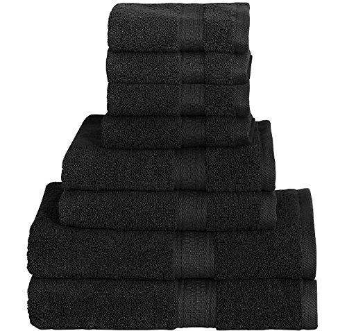 8 Piece Towel Set (Grey); 2 Bath To…
