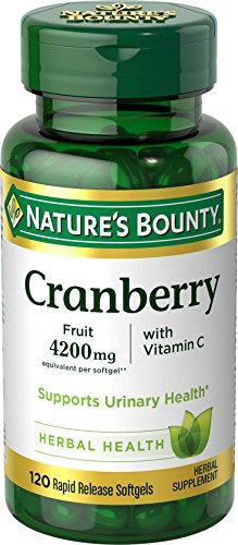 Nature's Bounty Cranberry Fruit 4200 mg, Plus Vitamin C 120 Softgels (Pack of 3)