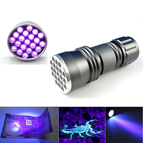 Iuhan® Fashion UV Ultra Violet 21 LED Flashlight Mini Blacklight Aluminum Torch Light Lamp (Combo Belt Grinder compare prices)