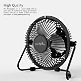 PrettyCare USB Desk Fan (Powerful Airflow/ A Free Adapter) Personal Mini Fan - Small Table Fan with Pedestal/ Air Radiator for Laptop, Quiet and Portable for Desktop Tabletop Floor Office Room Travel