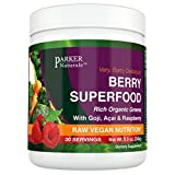 Berry Green Superfood with Goji, Acai & Raspberry, Raw Organic Nutrition- Vegan & Gluten Free - 240 Grams