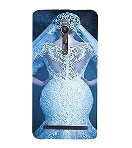 PrintVisa Bride Dulhan Wedding Marriage Design 3D Hard Polycarbonate Designer Back Case Cover for Asus Zenfone 2