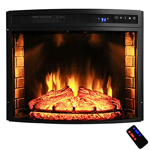 "AKDY 28"" Black Electric Firebox Fireplace Heater Insert"