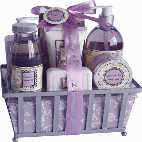 Lavender Therapy Spa Bath and Body Gift Basket Set