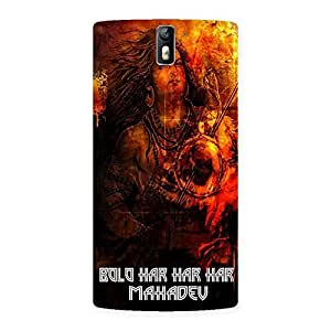 AJAYENTERPRISES Tho bolo har Back Case Cover for One Plus One